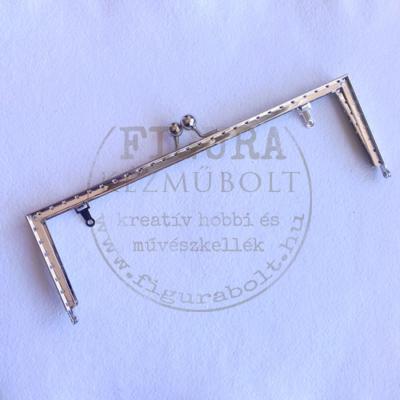 Táska csat 65*190mm szögletes ezüst