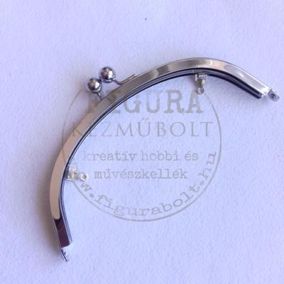 Táska csat 75*195mm íves ezüst