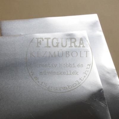 Domborító fémlemez (alu) 0,15mm vastag 20*30cm - EZÜST színű