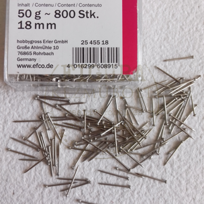 Gombostű (patchwork gombostű) 18mm 50g kb.800db