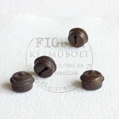 Fém csörgő korong alakú 11*18mm - Rozsdás barna