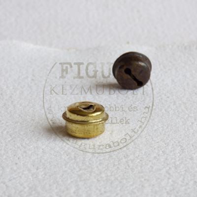 Fém csörgő korong alakú 11*18mm - ARANY