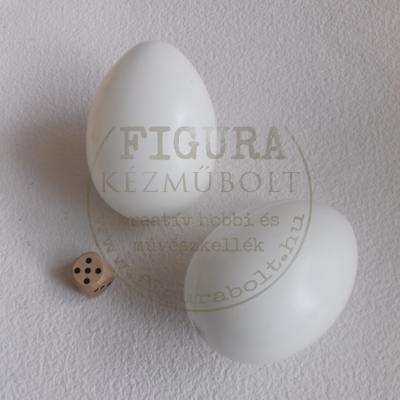 Műanyag tojás 8cm - FEHÉR