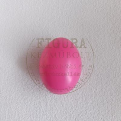 Műanyag tojás 6cm - PINK
