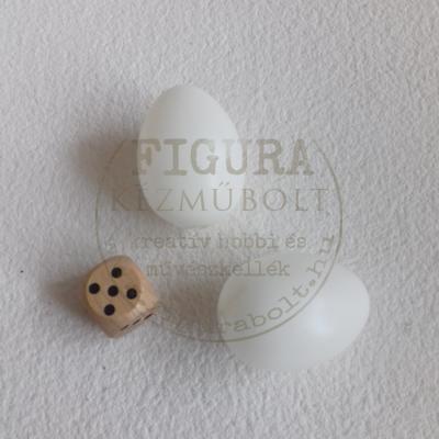 Műanyag tojás 4cm - FEHÉR