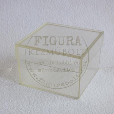Műanyag négyzetes doboz, levehető tetővel 78*78*52mm
