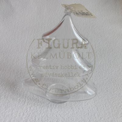 Műanyag fenyő félbe vehető 10cm - átlátszó